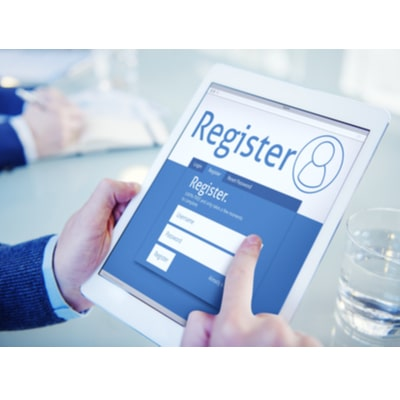 first step of the process - register
